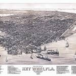 """Key West Florida Panoramic Map"" by ArtLoversOnline"