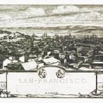 """San Francisco California Panoramic Map"" by ArtLoversOnline"