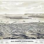 """San Diego California Panoramic Map"" by ArtLoversOnline"