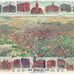 """Los Angeles California Panoramic Map"" by ArtLoversOnline"
