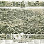 """Birmingham Alabama Panoramic Map"" by ArtLoversOnline"