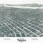 """Tulsa Oklahoma Panoramic Map"" by ArtLoversOnline"