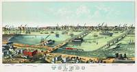 Toledo Ohio Panoramic Map