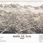 """Santa Fe New Mexico Panoramic Map"" by ArtLoversOnline"