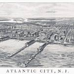 """Atlantic City New Jersey Panoramic Map"" by ArtLoversOnline"