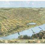 """Omaha Nebraska Panoramic Map"" by ArtLoversOnline"