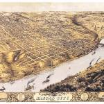 """Kansas City Missouri Panoramic Map"" by ArtLoversOnline"