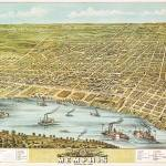 """Memphis Tennessee Panoramic Map"" by ArtLoversOnline"