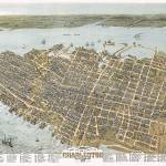 """Charleston South Carolina Panoramic Map"" by ArtLoversOnline"