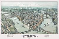 Pittsburgh Pennsylvania Panoramic Map