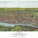 """Philadelphia Pennsylvania Panoramic Map"" by ArtLoversOnline"