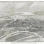 """Providence Rhode Island Panoramic Map"" by ArtLoversOnline"