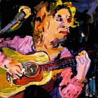 Playing Guitar Music Painting