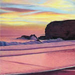 """Winter Santa Cruz Sunset"" by denisejhowardart"