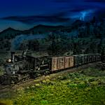 """Rocky Mountain Narrow Gauge Steamer"" by ColoradoArt"