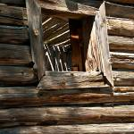 """Window on log cabin"" by SamSherman"
