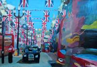 Rule Britannia - London covered with Union Jack Fl
