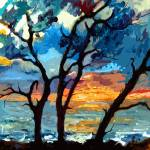"""Jekyll island Sunrise Modern Painting by Ginette"" by GinetteCallaway"