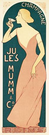 Poster Design for Champagne by Jules Mumm & Co