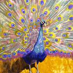 """Peacock Principles, Modern Abstract Art"" by schulmanart"