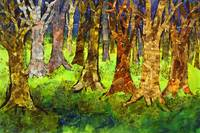 Valsette Forest, Abstract Tree Art