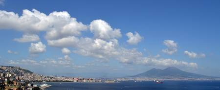 Panoramic Mt Vesuvisus and the  Bay of Naples by T