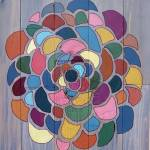 """""""Reclaimed Wood Graphic Flower Painting"""" by LisaKDesigns"""