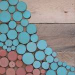 """""""Reclaimed Wood Slice Abstract Painting"""" by LisaKDesigns"""