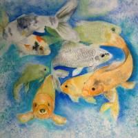 Coy Koi Art Prints & Posters by Vivian Mosley