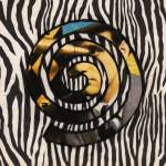 """Man With Zebra Stripes Spiral"" by Christinebeth"