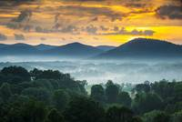 Asheville NC Blue Ridge Mountains Sunset - Welcome