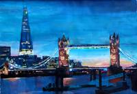 London Tower Bridge and The Shard at Dusk