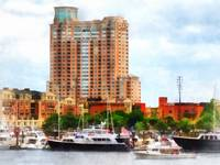 Boats at Inner Harbor Baltimore MD