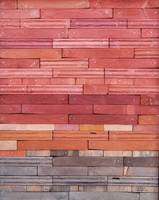 Reclaimed Wood Abstract Landscape in Red and Brown