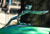 1934 limited Oldsmobile Tourer Mascot on Green