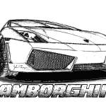 """Lamborghini line drawing"" by jt85"