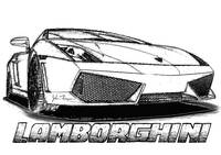 Lamborghini line drawing