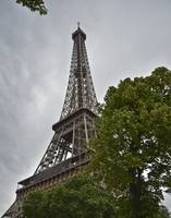 Eiffel Tower on a Rainy Day