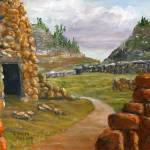 """Southwest Ruins from Acrylic Painting New Mexico"" by Lenora"