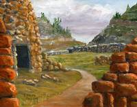 Southwest Ruins from Acrylic Painting New Mexico