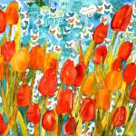 """Tulip Kisses and Hope, Musical Flower Collage"" by schulmanart"