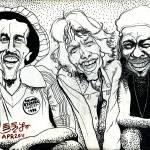 """Three Musicmans Bob Marley Mick Jagger Peter Tosh"" by Ebenlo"