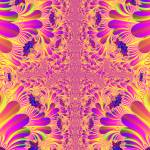 """Pink and yellow fractal"" by meganrenehoover"