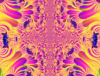 Pink and yellow fractal