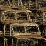 """Traditional wooden lobster traps, Cape Cod"" by CapeLight"