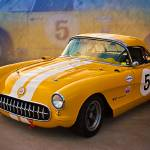"""1956 Corvette Front View"" by StuartRow"