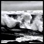 """Rough Seas Abstract"" by waynelogan"