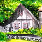 """New England Barn"" by skippatuffson"