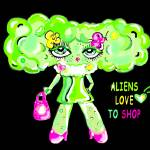 """Aliens Love to Shop Too!"" by LeslieCoreen"
