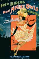 Poster for 'Fred Rider's New Night Owl Burlesquers